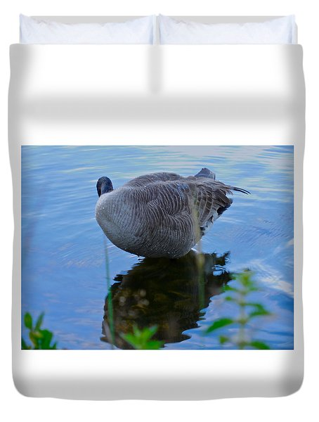 Where Are You Shadow Duvet Cover