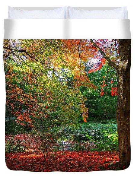 Where Autumn Lingers  Duvet Cover