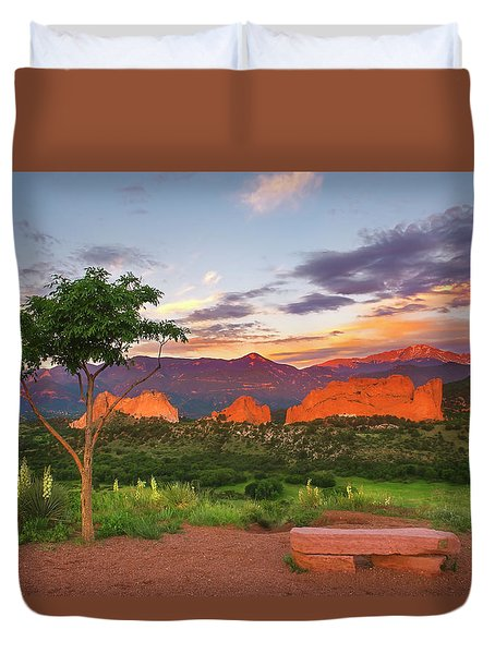 Duvet Cover featuring the photograph Where Beauty Overwhelms by Tim Reaves