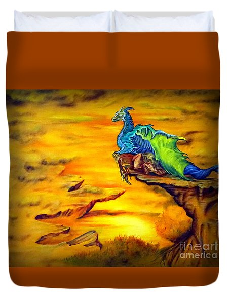 Dragons Valley Duvet Cover