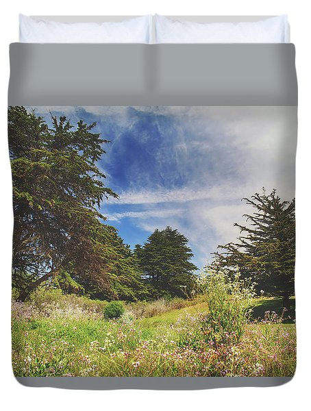 Where Fairies Play Duvet Cover by Laurie Search