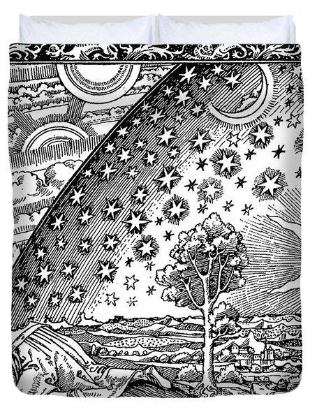 Where Heaven And Earth Meet 1888 Duvet Cover