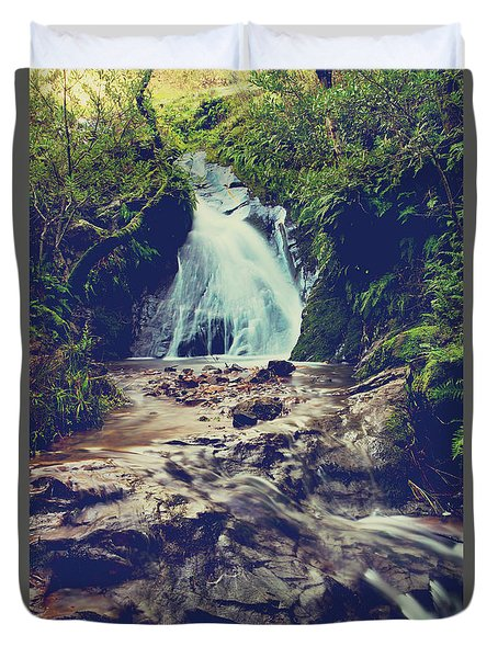 Duvet Cover featuring the photograph Where It All Begins by Laurie Search