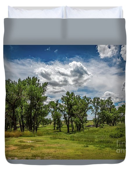 Where Men Died - The Battle Of Arikaree Fork Duvet Cover