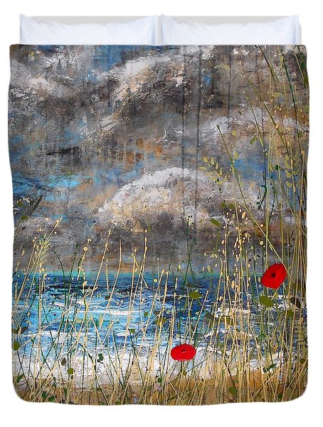 Where Poppies Blow Detail Duvet Cover