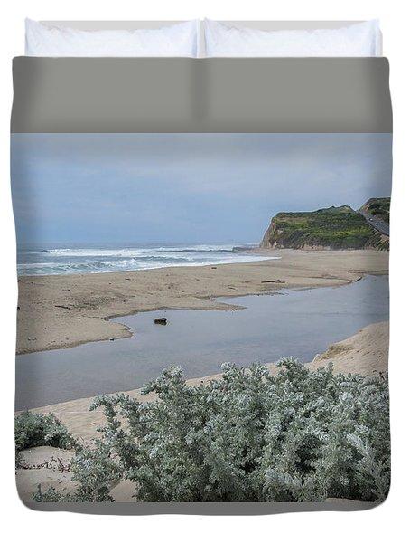 Where Scott Creek Meets The Ocean Duvet Cover