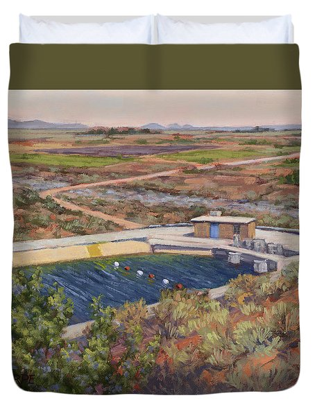 Where The Aqueduct Goes Underground Duvet Cover