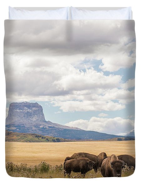 Where The Buffalo Roam Duvet Cover