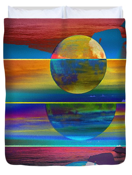 Where The Land Ends Duvet Cover