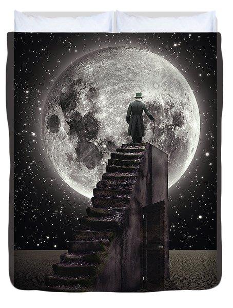 Where The Moon Rise Duvet Cover