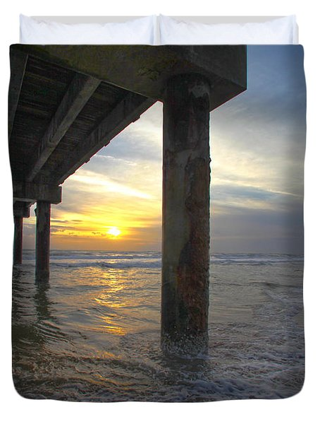 Where The Sand Meets The Surf Duvet Cover