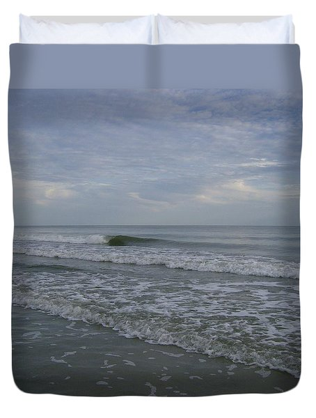 Where The Sea Meets The Sky Duvet Cover by Skyler Tipton