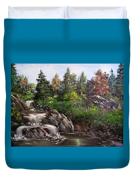 Where The Water Flows Duvet Cover by Megan Walsh
