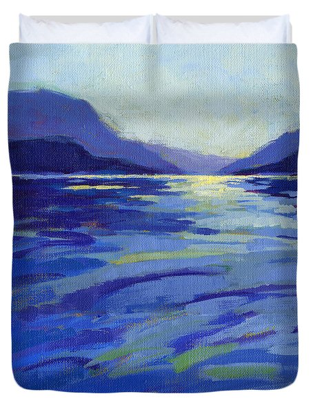 Where The Whales Play 1 Duvet Cover
