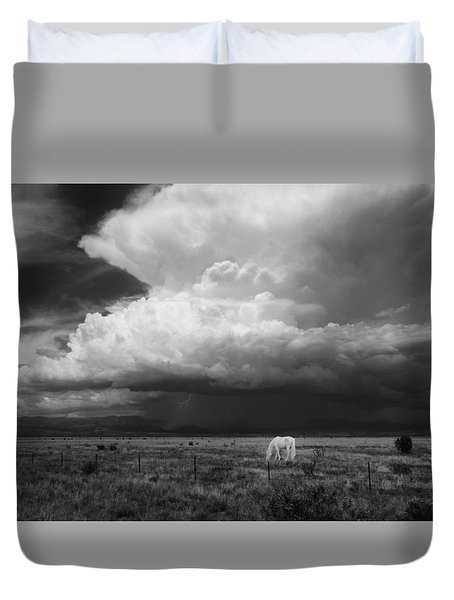 Where The Wild Horses Are Duvet Cover by Carolyn Dalessandro