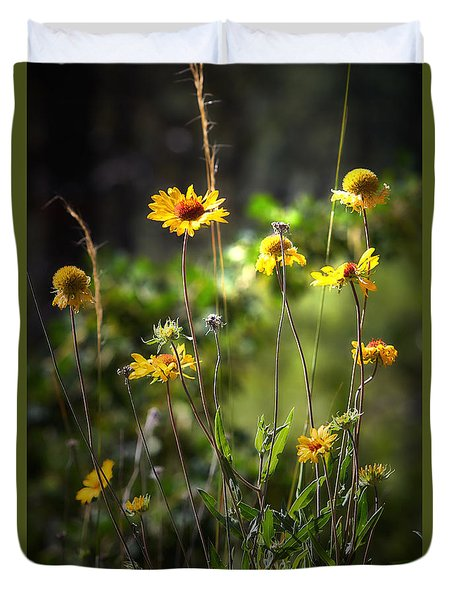 Where The Wildflower Grows Duvet Cover