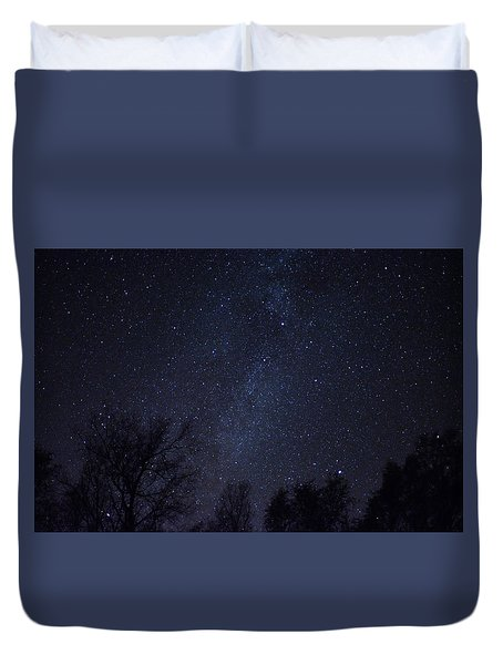 Where The Wind And The Coyotes Howl Duvet Cover