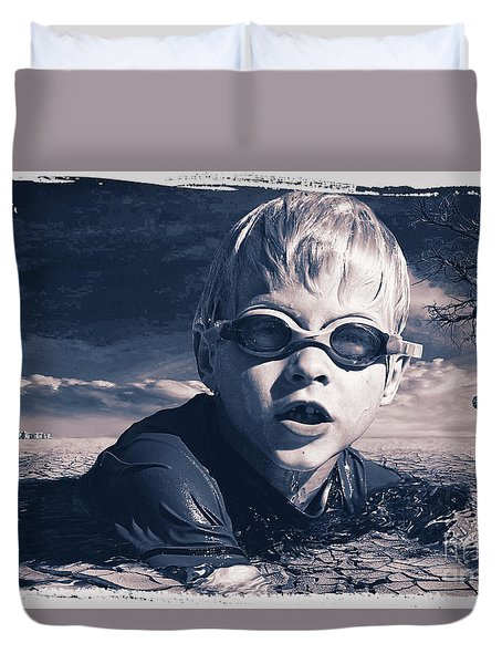 Where Will He Swim Tomorrow Duvet Cover