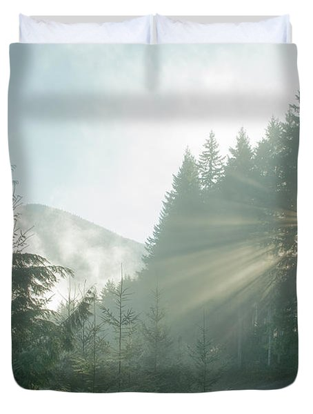 Where Will Your Road Take You? Duvet Cover