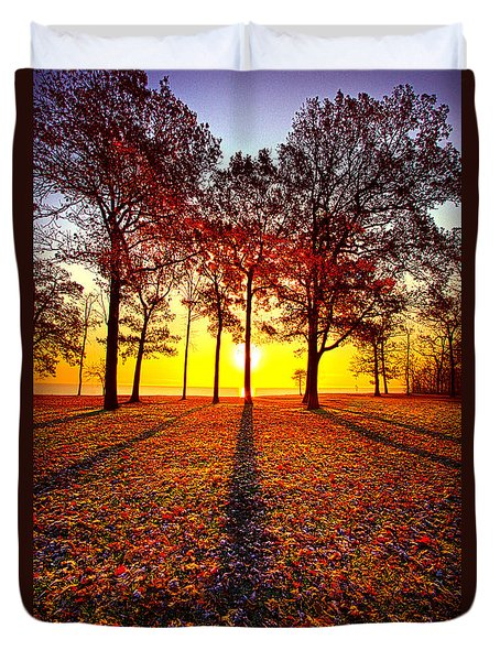 Where You Have Been Is Part Of Your Story Duvet Cover by Phil Koch