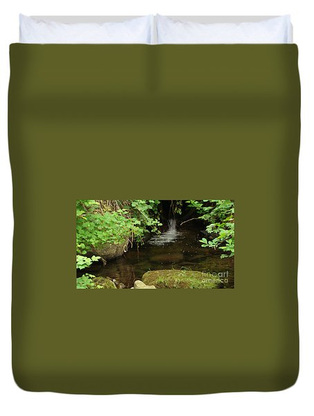 Duvet Cover featuring the painting Where's The Fish? by Rod Jellison