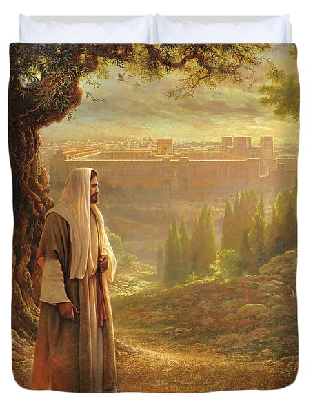 Wherever He Leads Me Duvet Cover by Greg Olsen