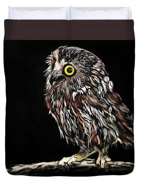 Whet Owl Duvet Cover