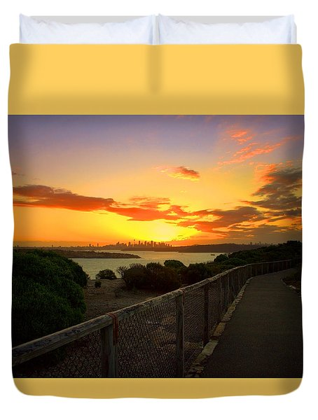 Duvet Cover featuring the photograph While You Walk by Miroslava Jurcik