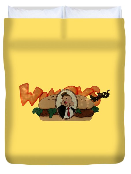 Duvet Cover featuring the photograph Whimpy by Tom Prendergast