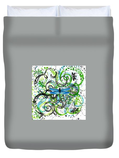 Whimsical Dragonflies Duvet Cover