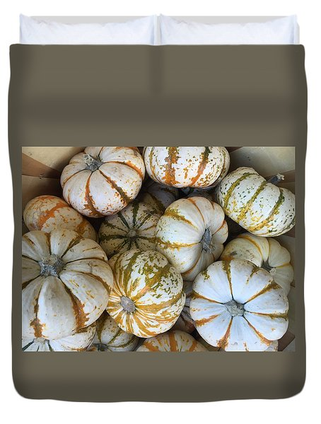 Whimsical Pumpkins Duvet Cover by Russell Keating