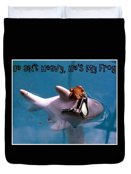 Duvet Cover featuring the photograph Whimsical Shark by Irma BACKELANT GALLERIES