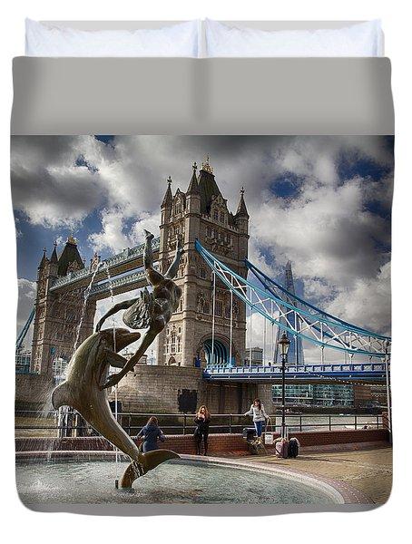 Whimsy At Tower Bridge Duvet Cover