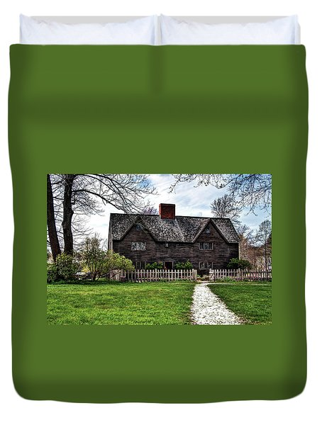 Duvet Cover featuring the photograph The John Whipple House In Ipswich by Wayne Marshall Chase