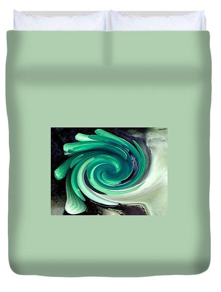 Whirlaway In Jade Duvet Cover