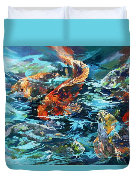 Whirling Dervish Duvet Cover by Rae Andrews