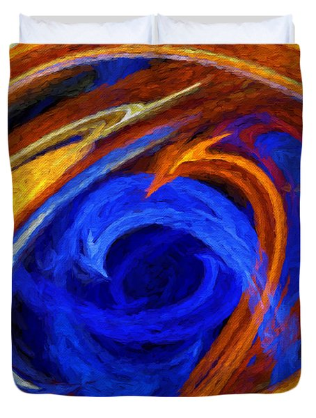 Duvet Cover featuring the digital art Whirlpool Abstract by Andee Design