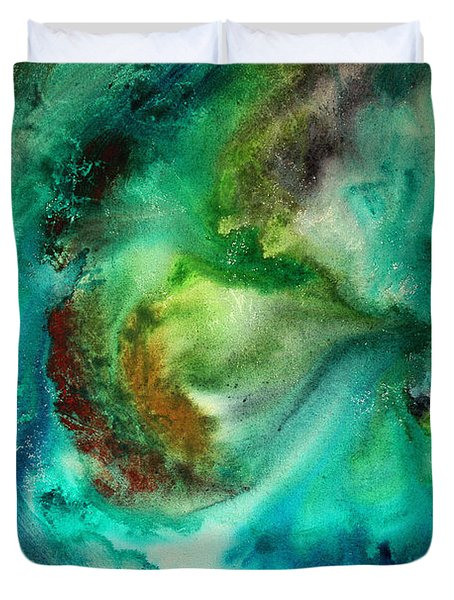 Whirlpool By Madart Duvet Cover by Megan Duncanson