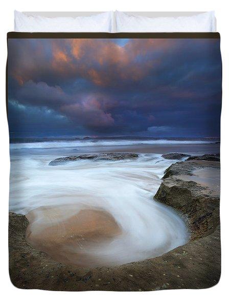 Whirlpool Dawn Duvet Cover by Mike  Dawson