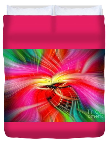 Whirlwind Of Colors Duvet Cover by Sue Melvin