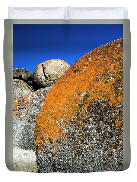 Duvet Cover featuring the photograph Whisky Rocks by Angela DeFrias