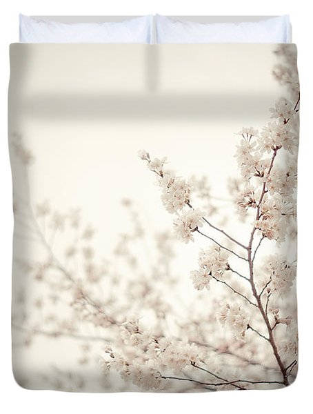 Whisper - Spring Blossoms - Central Park Duvet Cover by Vivienne Gucwa