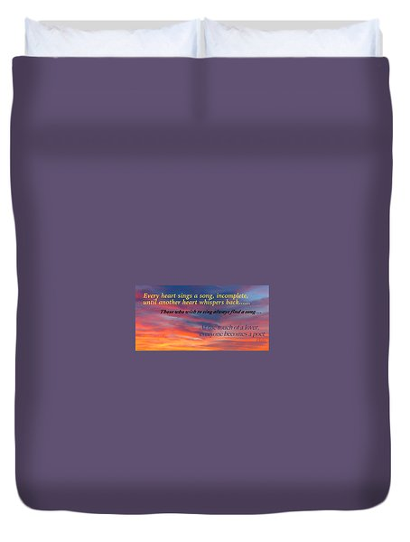 Duvet Cover featuring the photograph Whisper by David Norman