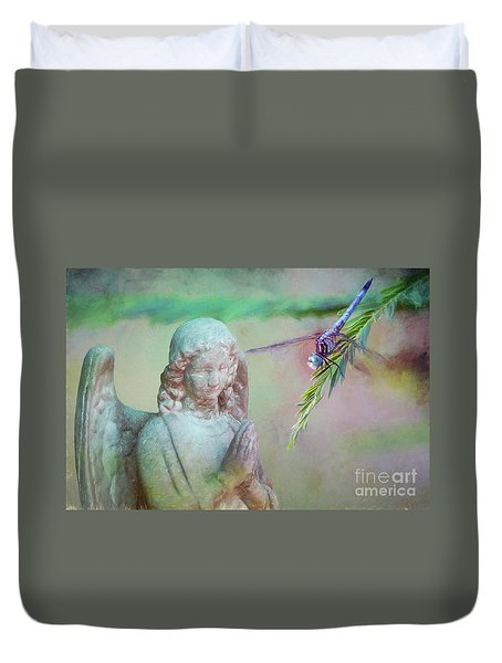 Duvet Cover featuring the photograph Whisper Of Angel Wings by Bonnie Barry