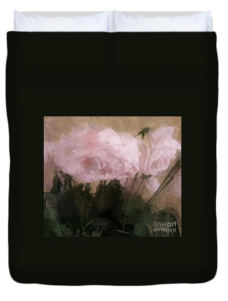 Whisper Of Pink Peonies Duvet Cover