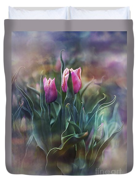 Whisper Of Spring Duvet Cover by Agnieszka Mlicka