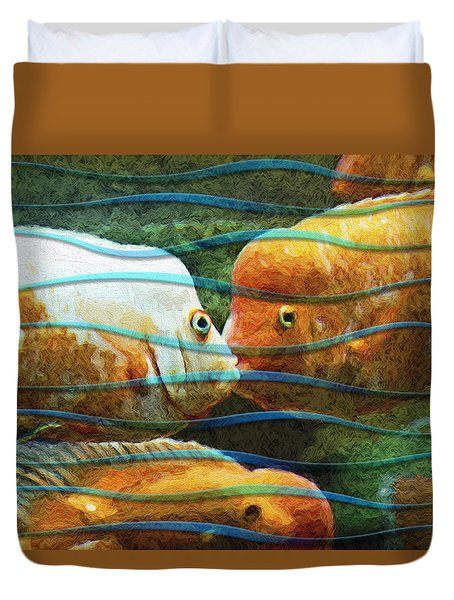 Whisper Sweet Nothings Duvet Cover