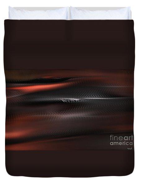 Duvet Cover featuring the digital art Whisper by Yul Olaivar