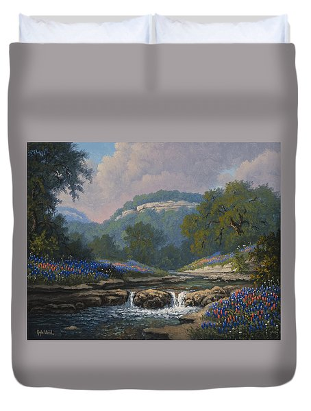 Whispering Creek Duvet Cover by Kyle Wood