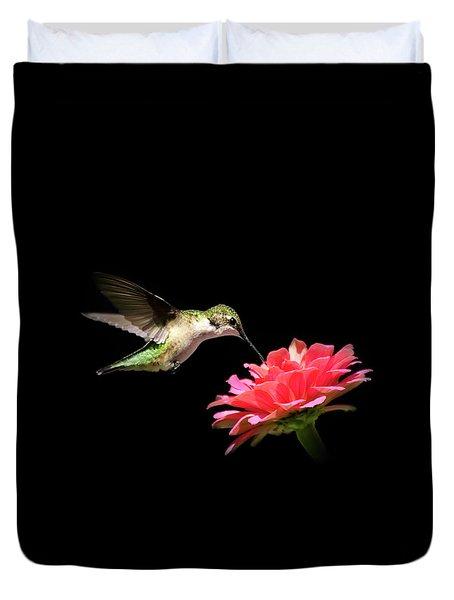 Whispering Hummingbird Duvet Cover by Christina Rollo